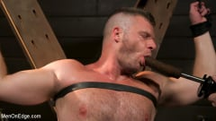 Brian Bonds - Built Boy Brian Bonds in Bondage takes Fat Toys, Tickling, Fucksaw | Picture (4)
