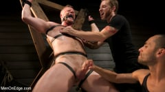Brian Bonds - Built Boy Brian Bonds in Bondage takes Fat Toys, Tickling, Fucksaw | Picture (13)