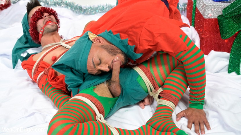 Casey Everett - Impish Little Elves: Casey Everett Edged by Santa and his Lil Helper | Picture (9)
