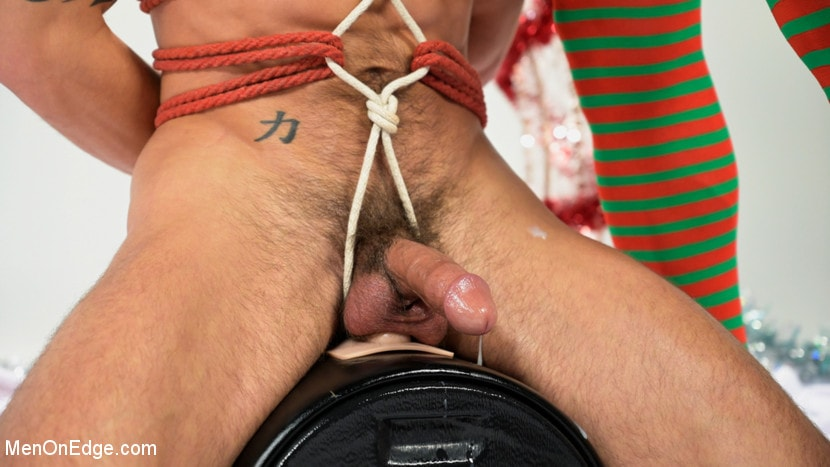 Casey Everett - Impish Little Elves: Casey Everett Edged by Santa and his Lil Helper | Picture (19)