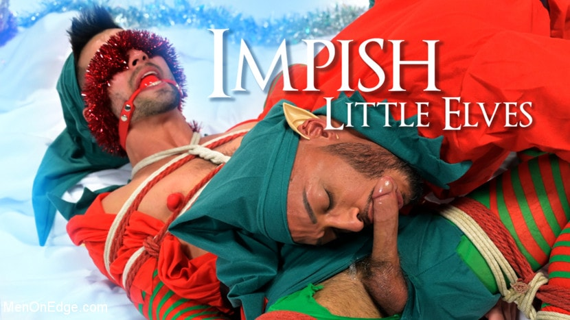 Casey Everett - Impish Little Elves: Casey Everett Edged by Santa and his Lil Helper | Picture (21)
