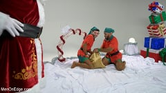 Casey Everett - Impish Little Elves: Casey Everett Edged by Santa and his Lil Helper | Picture (1)