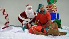 Casey Everett - Impish Little Elves: Casey Everett Edged by Santa and his Lil Helper | Picture (2)