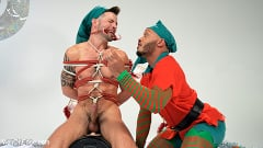 Casey Everett - Impish Little Elves: Casey Everett Edged by Santa and his Lil Helper | Picture (13)