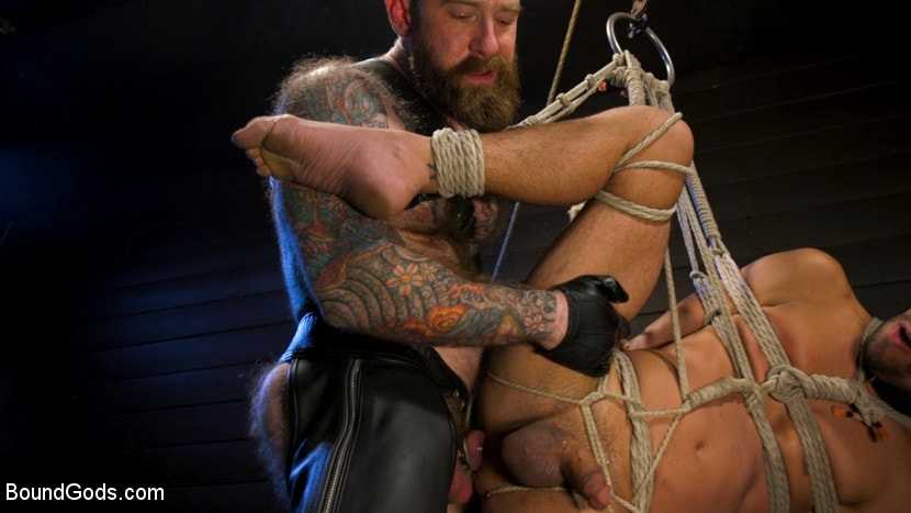 Chance Summerlin - Muscular Leather Daddy Smokes Cigars and Brutally Fucks Submissive Boy | Picture (23)