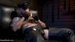 Chance Summerlin - Muscular Leather Daddy Smokes Cigars and Brutally Fucks Submissive Boy | Picture (1)