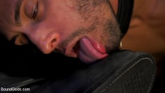 Chance Summerlin - Muscular Leather Daddy Smokes Cigars and Brutally Fucks Submissive Boy | Picture (4)