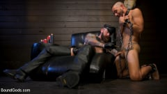 Chance Summerlin - Muscular Leather Daddy Smokes Cigars and Brutally Fucks Submissive Boy | Picture (7)