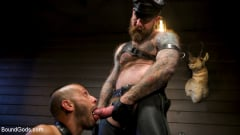 Chance Summerlin - Muscular Leather Daddy Smokes Cigars and Brutally Fucks Submissive Boy | Picture (15)