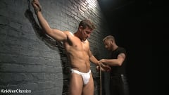 Jordan Boss - Straight Hunk Jordan Boss Mercilessly Beaten and Made to Cum | Picture (2)