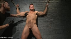 Jordan Boss - Straight Hunk Jordan Boss Mercilessly Beaten and Made to Cum | Picture (11)