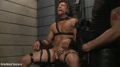Jordan Boss - Straight Hunk Jordan Boss Mercilessly Beaten and Made to Cum | Picture (25)