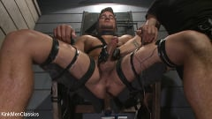 Jordan Boss - Straight Hunk Jordan Boss Mercilessly Beaten and Made to Cum | Picture (30)