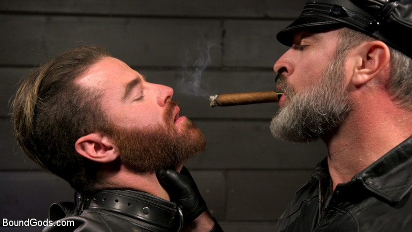 Kristofer Weston - ASH PIGS: Cigar Smoking Leather Daddy Breaks in His Hairy Muscle Slave | Picture (4)