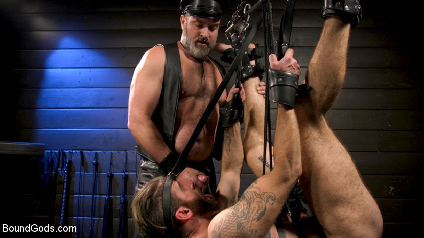 Kristofer Weston - ASH PIGS: Cigar Smoking Leather Daddy Breaks in His Hairy Muscle Slave | Picture (21)