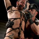 Kristofer Weston in 'ASH PIGS: Cigar Smoking Leather Daddy Breaks in His Hairy Muscle Slave'