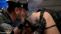 Kristofer Weston - ASH PIGS: Cigar Smoking Leather Daddy Breaks in His Hairy Muscle Slave | Picture (5)