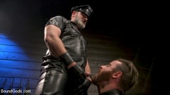 Kristofer Weston - ASH PIGS: Cigar Smoking Leather Daddy Breaks in His Hairy Muscle Slave | Picture (11)