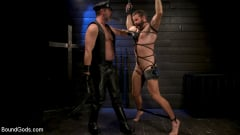 Kristofer Weston - ASH PIGS: Cigar Smoking Leather Daddy Breaks in His Hairy Muscle Slave | Picture (16)