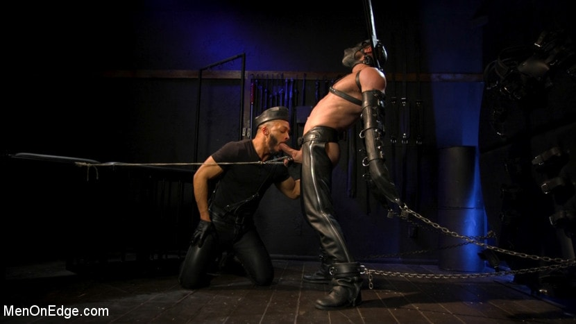 Ricky Larkin - Larkin's Load: Ricky Larkin Bound in Leather, Tickled, and Drained | Picture (7)
