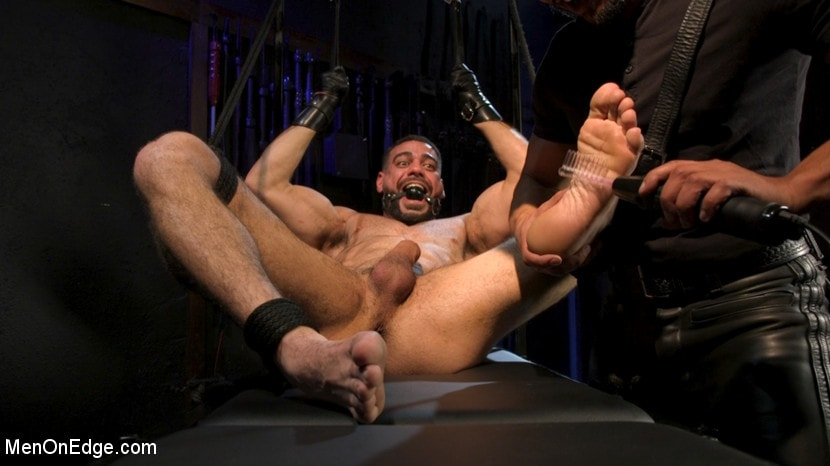 Ricky Larkin - Larkin's Load: Ricky Larkin Bound in Leather, Tickled, and Drained | Picture (25)