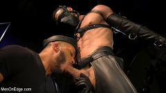 Ricky Larkin - Larkin's Load: Ricky Larkin Bound in Leather, Tickled, and Drained | Picture (4)