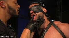 Ricky Larkin - Larkin's Load: Ricky Larkin Bound in Leather, Tickled, and Drained | Picture (8)