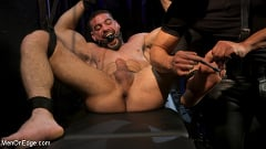 Ricky Larkin - Larkin's Load: Ricky Larkin Bound in Leather, Tickled, and Drained | Picture (18)