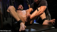 Ricky Larkin - Larkin's Load: Ricky Larkin Bound in Leather, Tickled, and Drained | Picture (30)