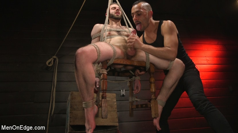William Crown - William Crown Gets His Big Hard Dick Choked And Edged | Picture (14)