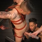 Zak Bishop in 'New to KinkMen, Zak Bishop Gets Sucked, Edged and Fisted Till He Blows'
