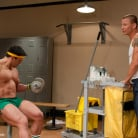 Brenn Wyson in 'The Creepy Janitor and The Bodybuilder'