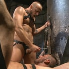 Hugh Hunter in 'Cock hungry leather studs play in a dark basement'
